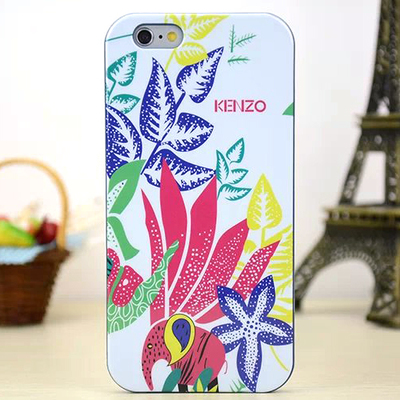 Задняя накладка Kenzo Series iPhone 6 TPU Case - White with Pink Floral