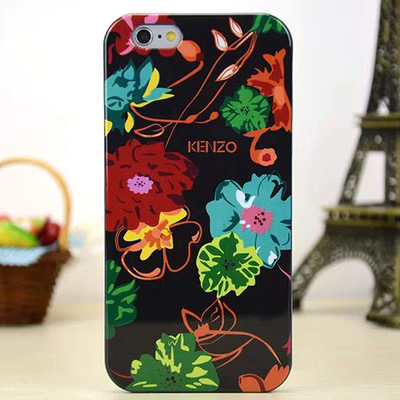Задняя накладка Kenzo Series iPhone 6 TPU Case - Black with Floral