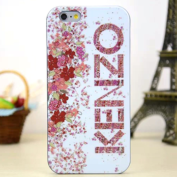 Задняя накладка Kenzo Series iPhone 6 TPU Case - Pink Flowers