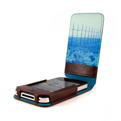 Чехол футляр Ted Baker Leather Case (Men's) for Apple iPhone 4 (Telegraph)