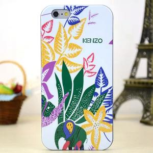 Задняя накладка Kenzo Series iPhone 6 TPU Case - White with Green Floral