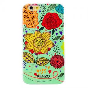 Задняя накладка High Quality Kenzo Series iPhone 6 Case - Mint with Sunflowers